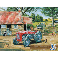 Massey Ferguson 35 Tractor - Metal Wall Sign - retro vintage style sign  (150 x 200mm) Metal Sign
