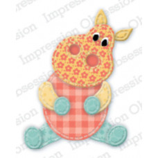 impression obsession Patchwork Hippo die 421J