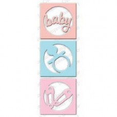 Impression Obsession Circle Baby Cutout set die 427K