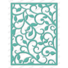 Impression Obsession Lg. Flourish Background die set  473YY