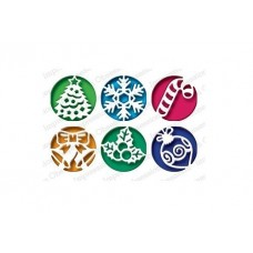 Impression Obsession Christmas Circles die set 482X