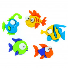 Dress It Up Shaped Novelty Button Packs - Something Fishy