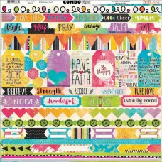 BoBunny Believe collection, Combo cardstock sticker sheet