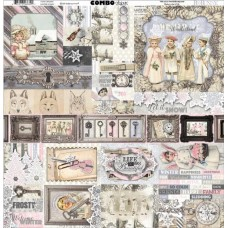 BoBunny Winter Wishes collection, Combo cardstock sticker sheet