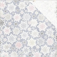 BoBunny Winter Wishes collection, Snowflake x 2 sheets
