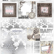 BoBunny Winter Wishes collection, Foiled Vellum