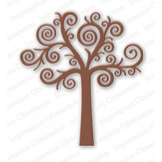impression obsession Swirl Tree die set 036P