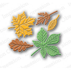 Impression Obsession Small leaf  die set  071I