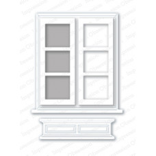 impression obsession Large window with box die set 103ZZ