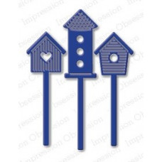 impression obsession  Bird house  set die 156H