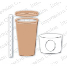 Impression Obsession takeout coffee cup die set 196D