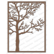 Impression Obsession Tree frame die set  205YY