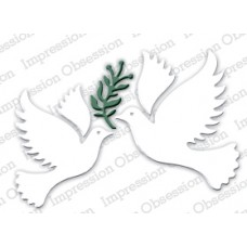 Impression Obsession Peace doves die set 225N