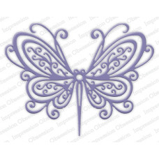 impression obsession open scroll butterfly die set 253U