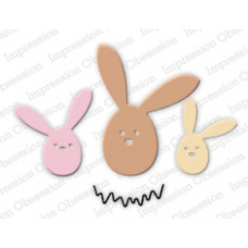 impression obsession Egg bunny duo die set 277E