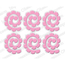 Impression Obsession Spiral rose set die 318O
