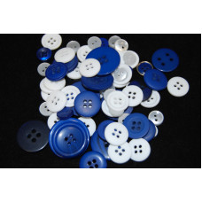 Selection of approx 60 assorted size colours craft buttons, Mixed colour SCOTLAND