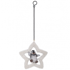 Vivid Arts - Hanging Christmas Star - Penguin