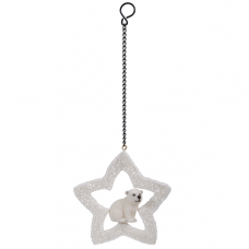 Vivid Arts - Hanging Christmas Mini  Star - Polar Bear