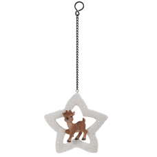 Vivid Arts - Hanging Christmas Mini Star - Reindeer