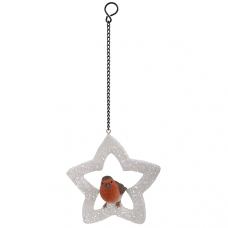 Vivid Arts - Hanging Christmas Star - Robin