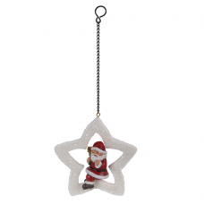 Vivid Arts - Hanging Christmas Mini Star - Santa
