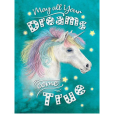Unicorn, May all your dreams come true - Metal Wall Sign - retro vintage style sign  (150 x 200mm) Metal Sign
