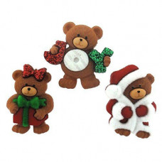 Dress It Up Shaped Novelty Button Packs - A Beary Merry Christmas