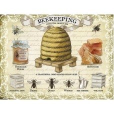 Beekeeping - Metal Wall Sign - retro vintage style sign  (150 x 200mm) Metal Sign