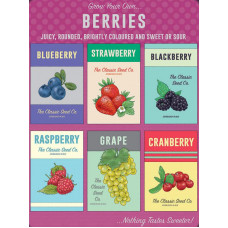Grow your own...Berries - Metal Wall Sign - retro vintage style sign  (150 x 200mm) Metal Sign