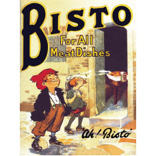 Bisto for all meat dishes  Metal Wall Sign - retro vintage style sign  (150 x 200mm) Metal Sign