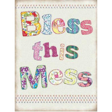 15x20cm Bless this mess metal wall sign