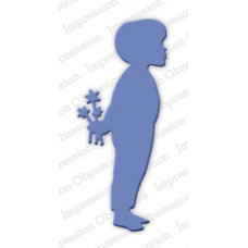 Impression Obsession Boy with flowers die set 248C