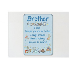 Brother Metal Wall Sign - retro vintage style sign  (150 x 200mm) Metal Sign