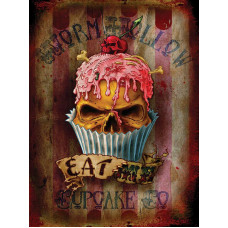 Gothic Alchemy Eat Me Cupcake - Metal Wall Sign - retro vintage style sign  (150 x 200mm) Metal Sign