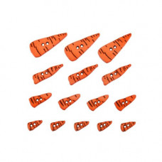 Dress It Up Shaped Novelty Button Packs - Carrot Noses