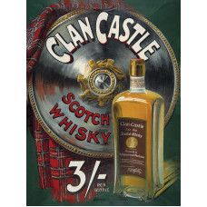 Clan Castle Whisky - Metal Wall Sign - retro vintage style sign  (150 x 200mm) Metal Sign