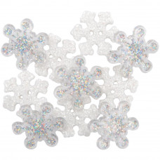 Dress It Up Shaped Novelty Button Packs - Crystal Snowflakes