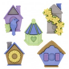Dress It Up Shaped Novelty Button Packs - Feather Nest