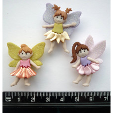 Dress It Up Shaped Novelty Button Packs - flower fairies