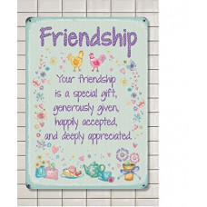 Friendship Metal Wall Sign - retro vintage style sign  (150 x 200mm) Metal Sign
