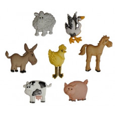 Dress It Up Shaped Novelty Button Packs - Funny farm
