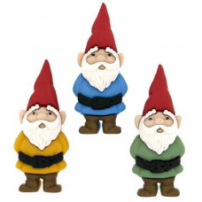 Dress It Up Shaped Novelty Button Packs - Garden Gnomes