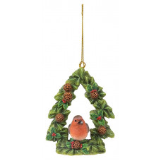 Vivid Arts - hanging robin floral Christmas tree