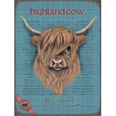 Highland cow  Small (150 x 200mm) Metal Sign -