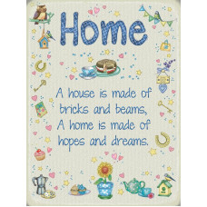 Home Metal Wall Sign - retro vintage style sign  (150 x 200mm) Metal Sign