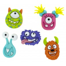 Dress It Up Shaped Novelty Button Packs - Mad for Monsters