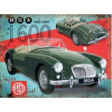 MGA 1600 Car - Metal Wall Sign - retro vintage style sign  (150 x 200mm) Metal Sign