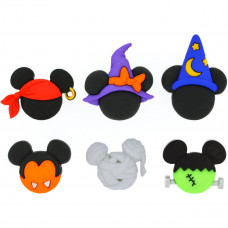 Disney Mickey and Minnie Halloween hats - Novelty Craft Buttons & Embellishments by Dress It Up