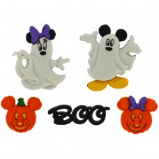 Disney Mickey and Minnie Halloween Ghosts - Novelty Craft Buttons & Embellishments by Dress It Up